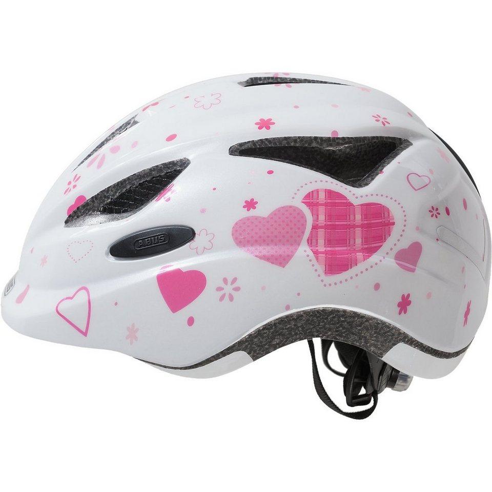 ABUS Fahrradhelm Anuky Herzchen weiß heart S