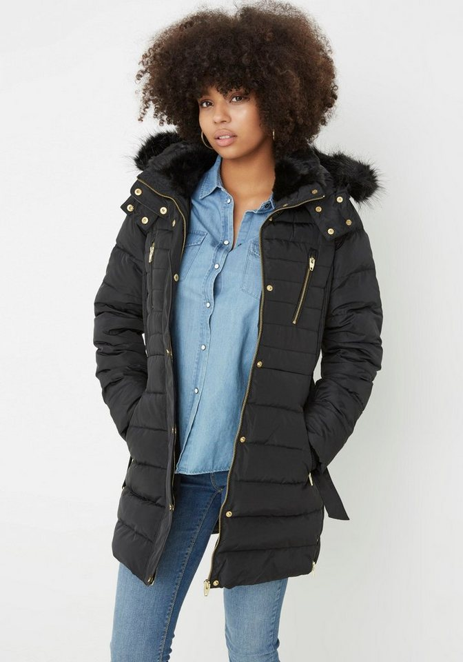 Vero Moda Wintermantel »SMASH« mit echten Daunen in schwarz