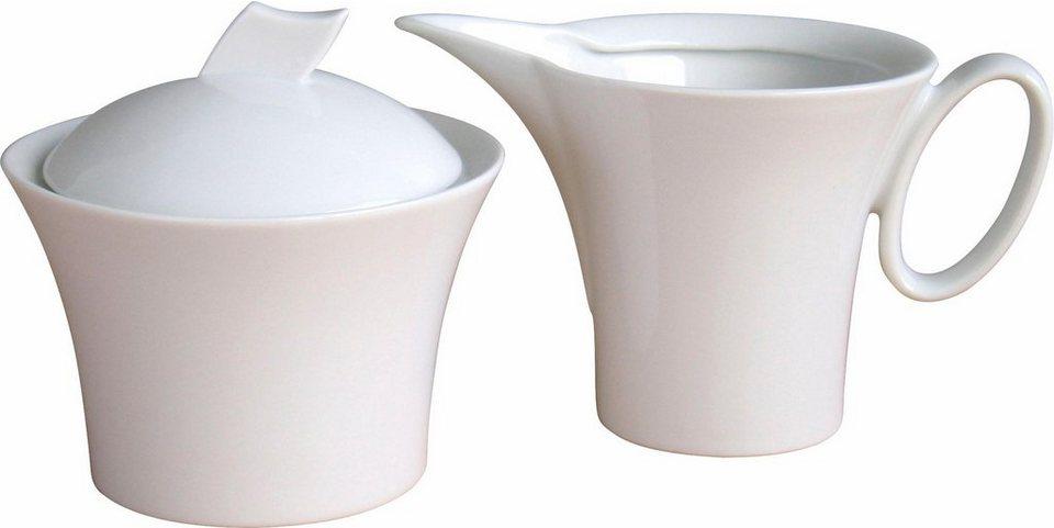 Milch/Zucker-Set Porzellan, »Wing« (2-tlg.) in weiß