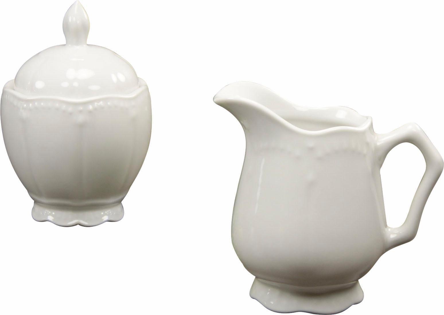 CreaTable Milchkanne »Gloria«, inklusive Zuckerdose mit Deckel