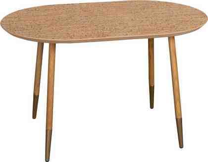 andas Couchtisch «Nanna», mit Tischplatte aus Naturkork oder geölter Eiche