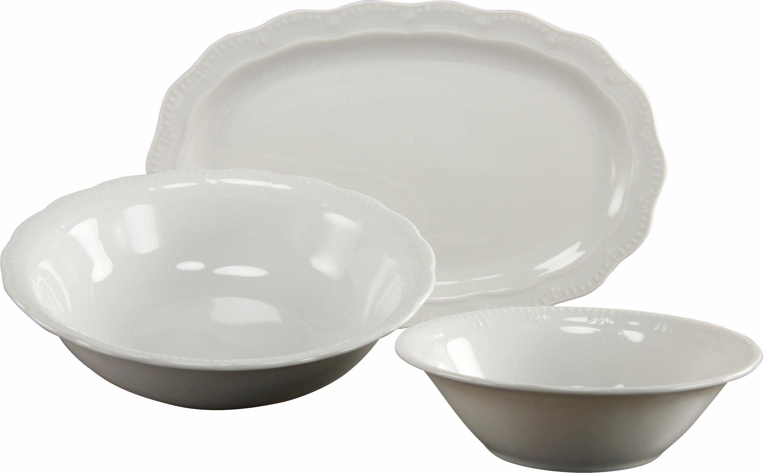 CreaTable Servier-Set »Gloria«, Porzellan, (Set, 3 tlg)