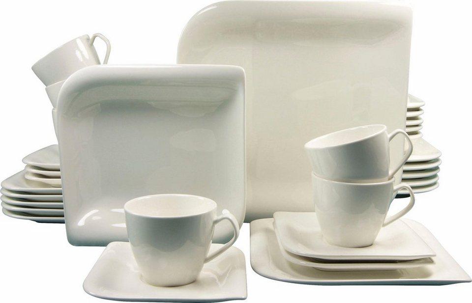 Kombiservice, Porzellan, »NEW PACIFIC« (30tlg.) in crème-weiß