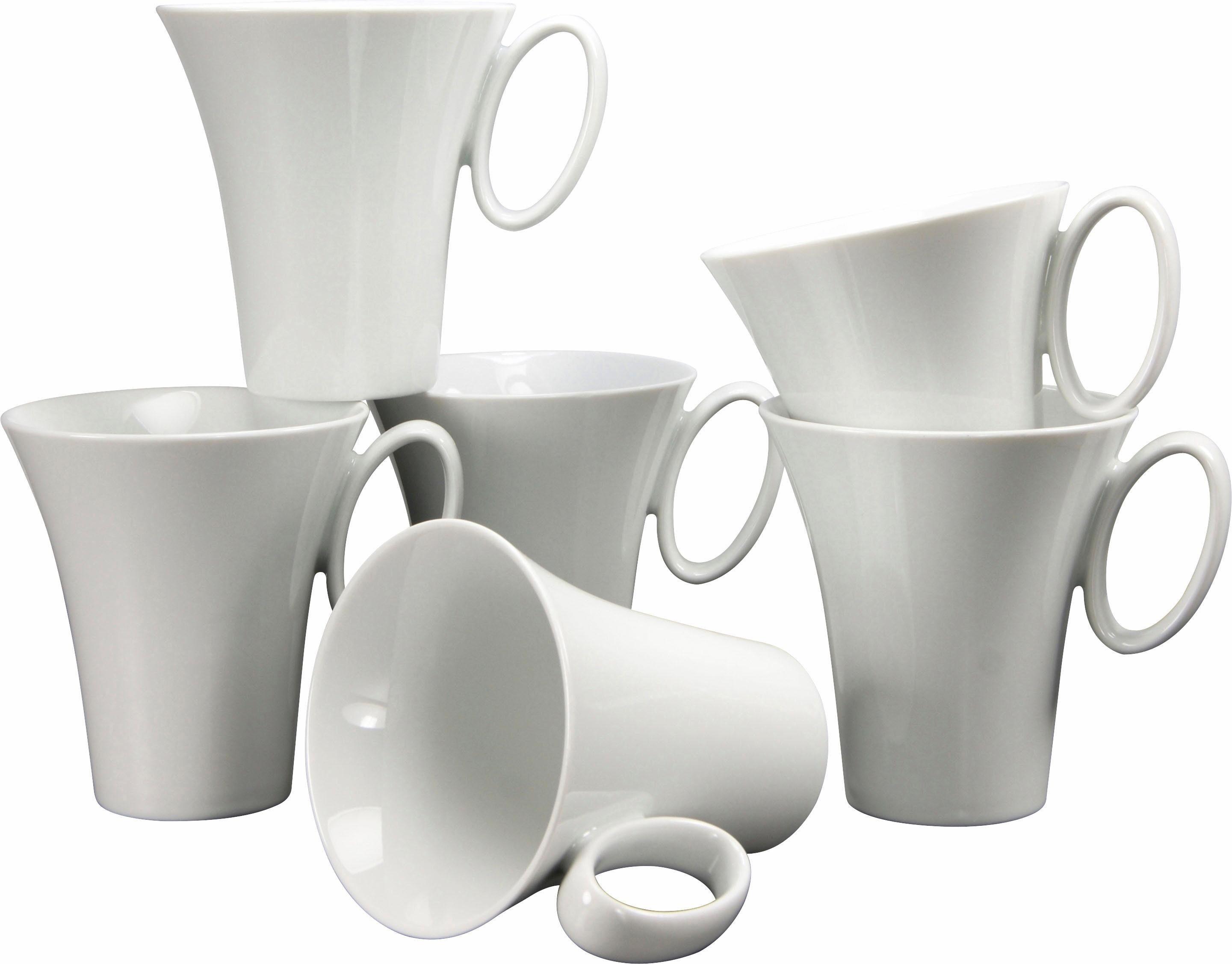 Kaffeebecher Porzellan, »Wing« (6er Set)