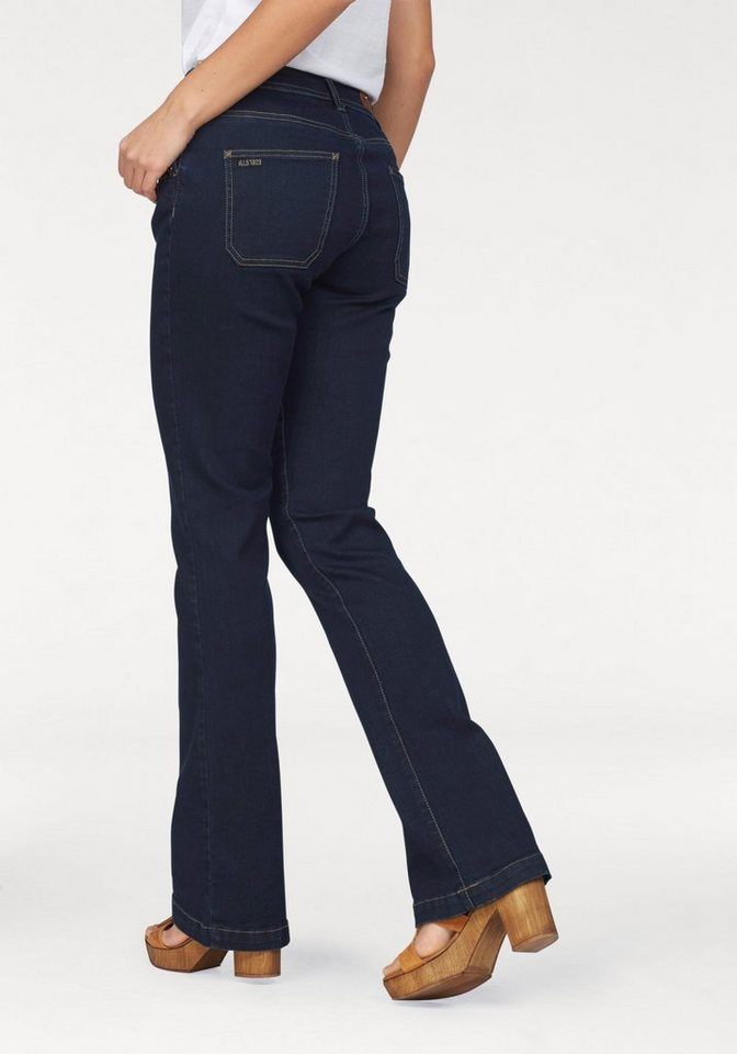 H.I.S Bootcut-Jeans »Sunny« in blue-stone