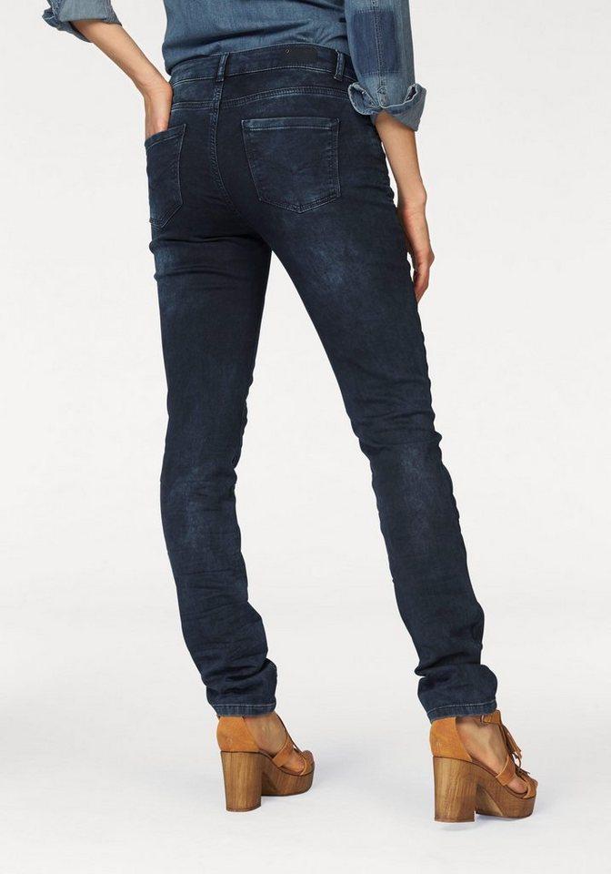 H.I.S 5-Pocket-Jeans »Monroe« Jersey Denim in darkblue