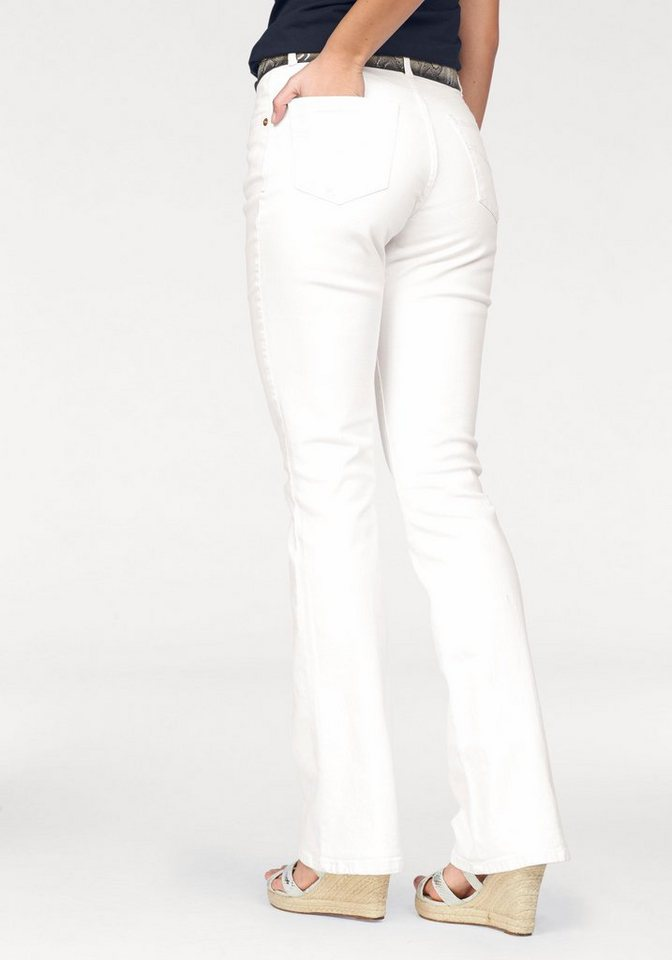 H.I.S Bootcut-Jeans »Sunny« in white
