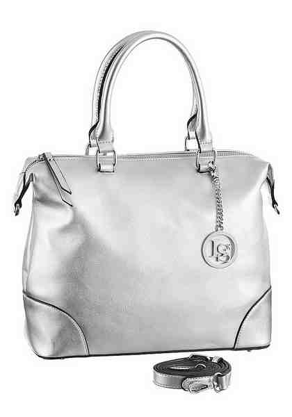 Laura Scott Henkeltasche, im Metallic Look
