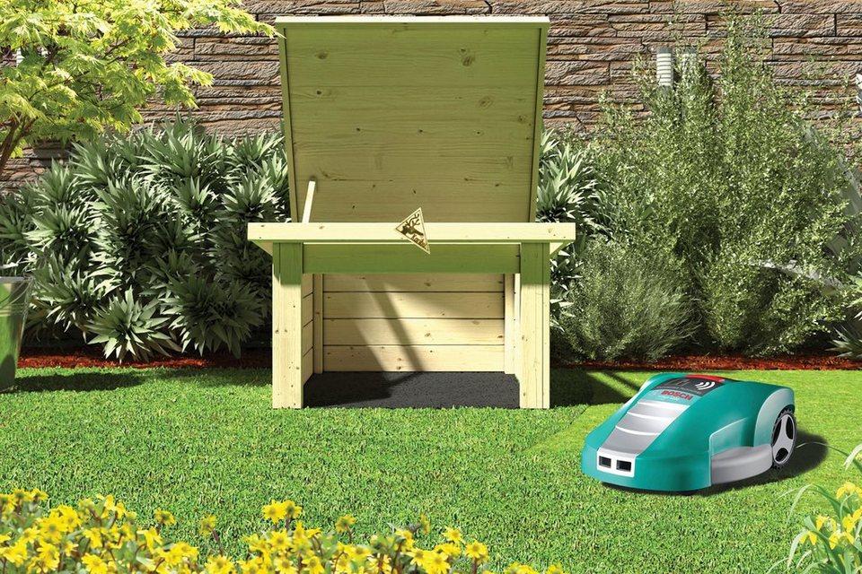 karibu m hroboter garage bxtxh 73x77x49 cm naturbelassen online kaufen otto. Black Bedroom Furniture Sets. Home Design Ideas