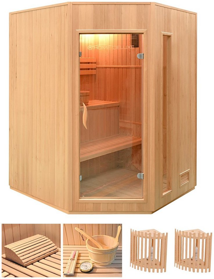 home deluxe elementsauna relax xl 150 150 200 cm 50 mm 4 5 kw ofen int strg online. Black Bedroom Furniture Sets. Home Design Ideas