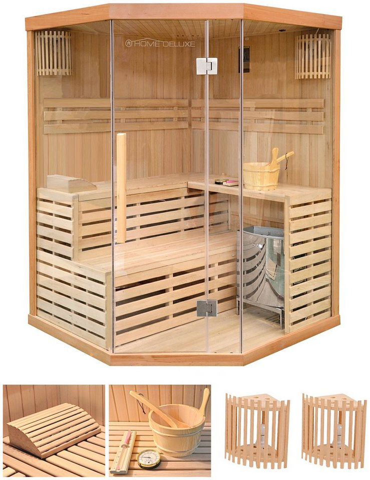 home deluxe set elementsauna skyline xl 150x150x200 cm 50 mm 6 kw ofen mit int steuerung. Black Bedroom Furniture Sets. Home Design Ideas