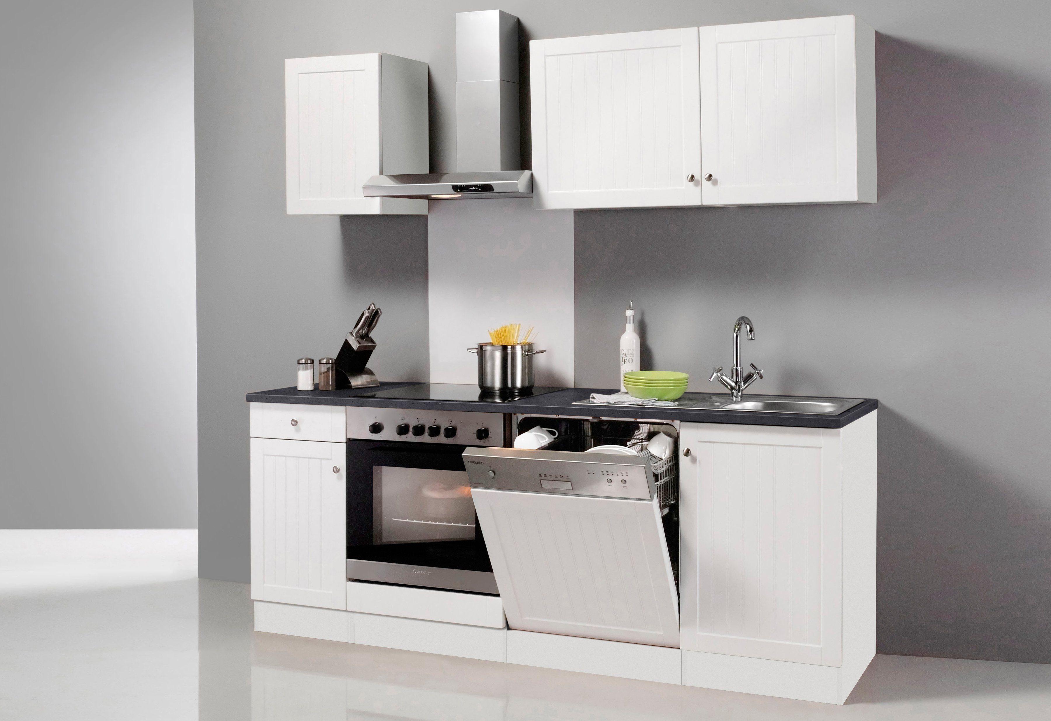 OPTIFIT Küchenzeile mit E-Geräten »Bornholm, Breite 210 cm«