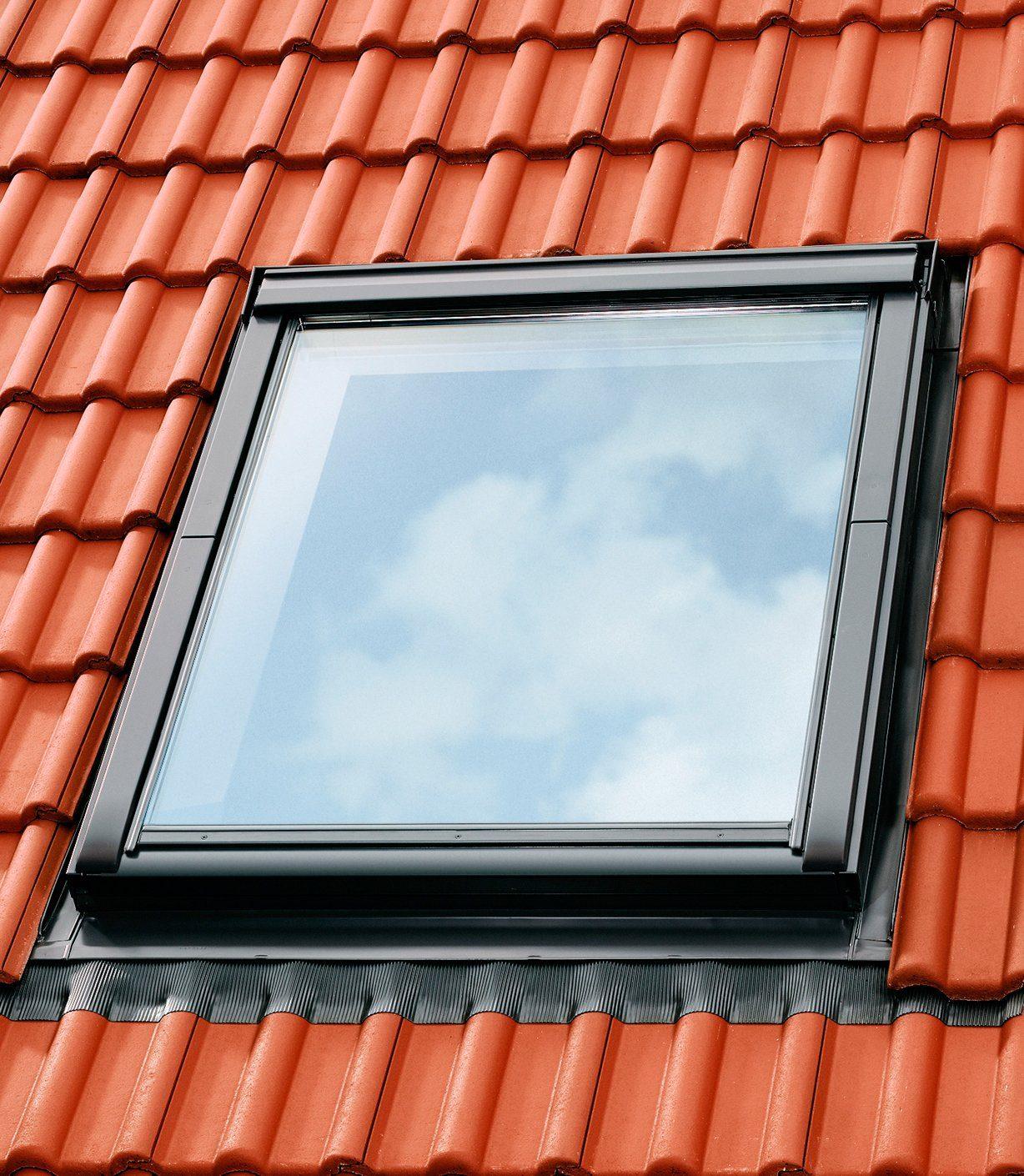 Eindeckrahmen »EDZ 2000«, für Fenstergröße: SK06, alu-grau