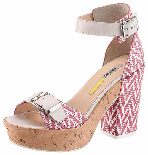 Manas Sandalette, mit auffälligem Druck