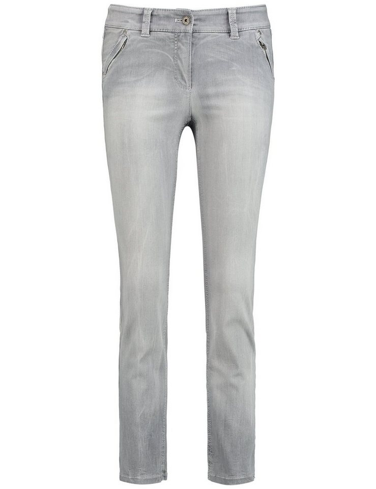 Gerry Weber Hose Jeans verkürzt »Jeans Roxy Cropped« in Hellgrau Denim