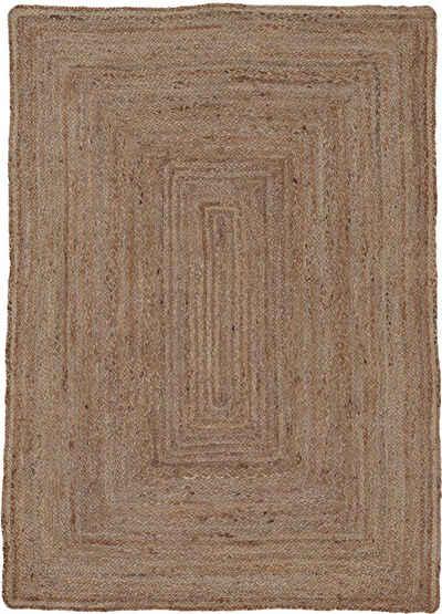 Teppich »Nele«, carpetfine, rechteckig, Höhe 6 mm, Wendeteppich 100% Jute, Wohnzimmer