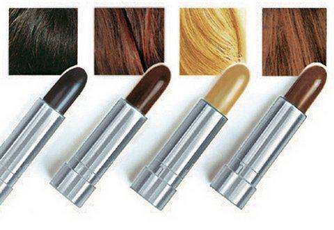 Haarfärbestift in blond/braun/dunkelbraun/schwarz