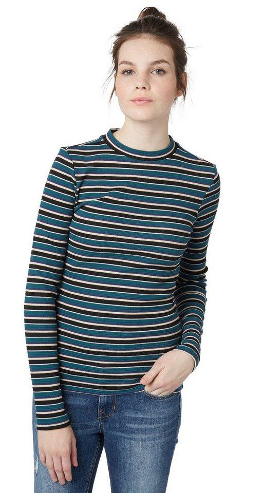 Tom tailor denim t shirt strukturiertes streifen shirt for Tailored t shirts online