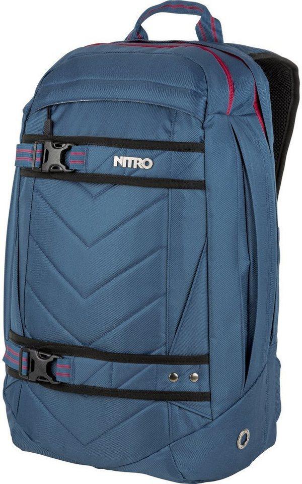 nitro rucksack mit laptopfach aerial blue steel otto. Black Bedroom Furniture Sets. Home Design Ideas