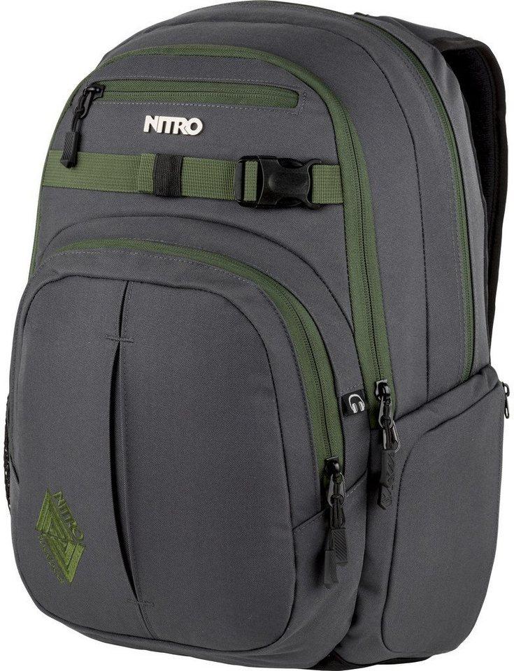 nitro rucksack mit laptopfach chase pirate black online kaufen otto. Black Bedroom Furniture Sets. Home Design Ideas