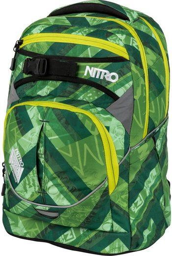 NITRO Schulrucksack »Superhero Wicked Green«, mit gratis Pencil Case & Duffle Bag