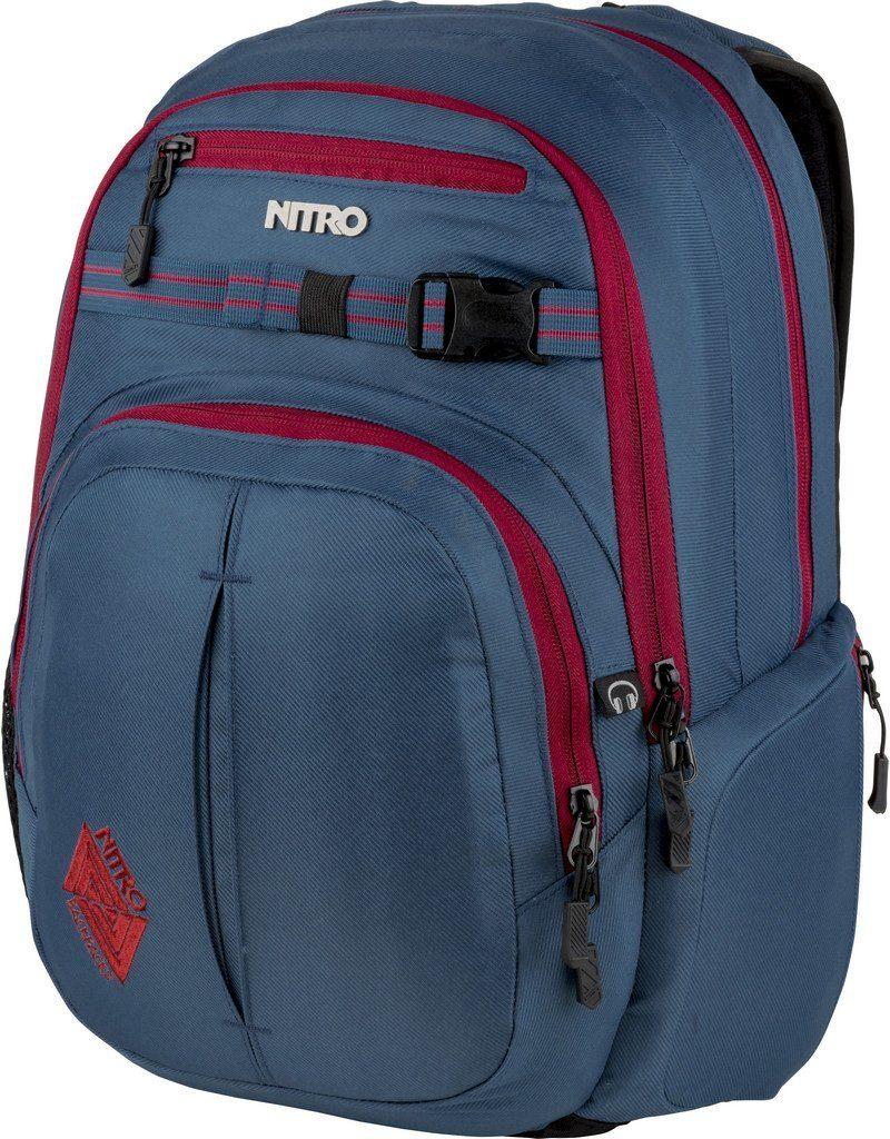 Nitro Schulrucksack, mit Laptopfach, »Chase Blue Steel«