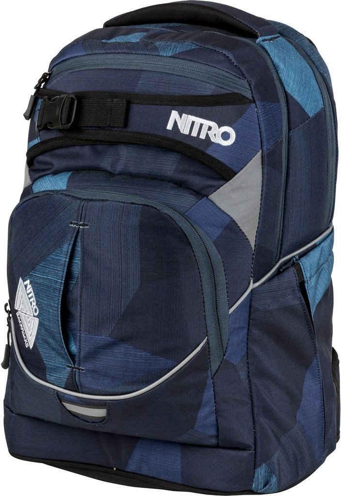 NITRO Schulrucksack »Superhero, Fragments Blue«