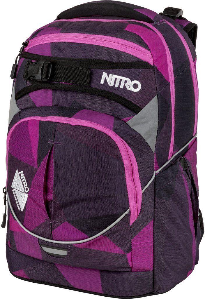 Nitro Schulrucksack, »Superhero Fragments Purple«