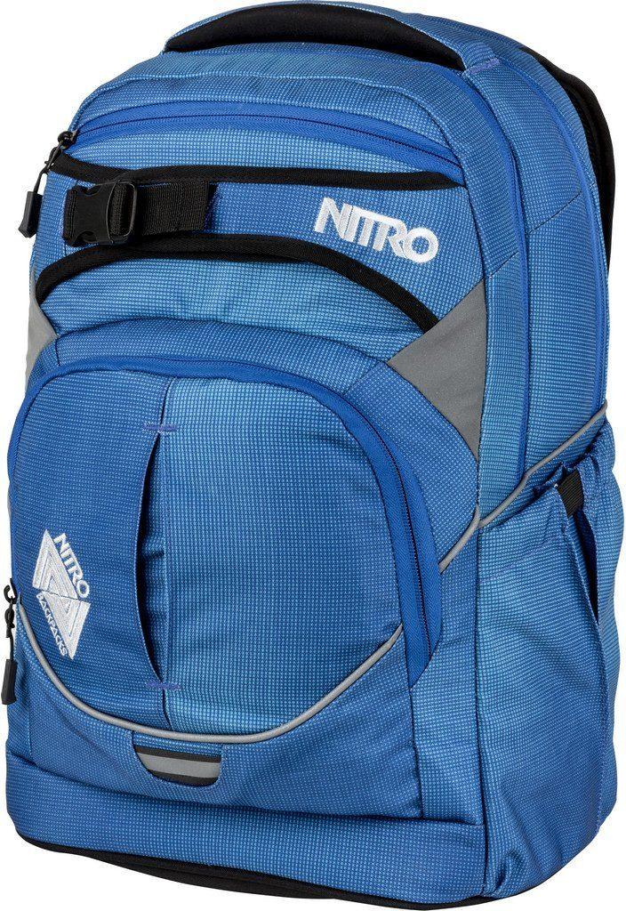 Nitro Schulrucksack, »Superhero Blur Brilliant Blue«