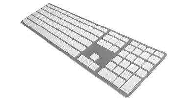 JENIMAGE Bluetooth Tastatur »Wireless Aluminium Keyboard - UK QWERTY«