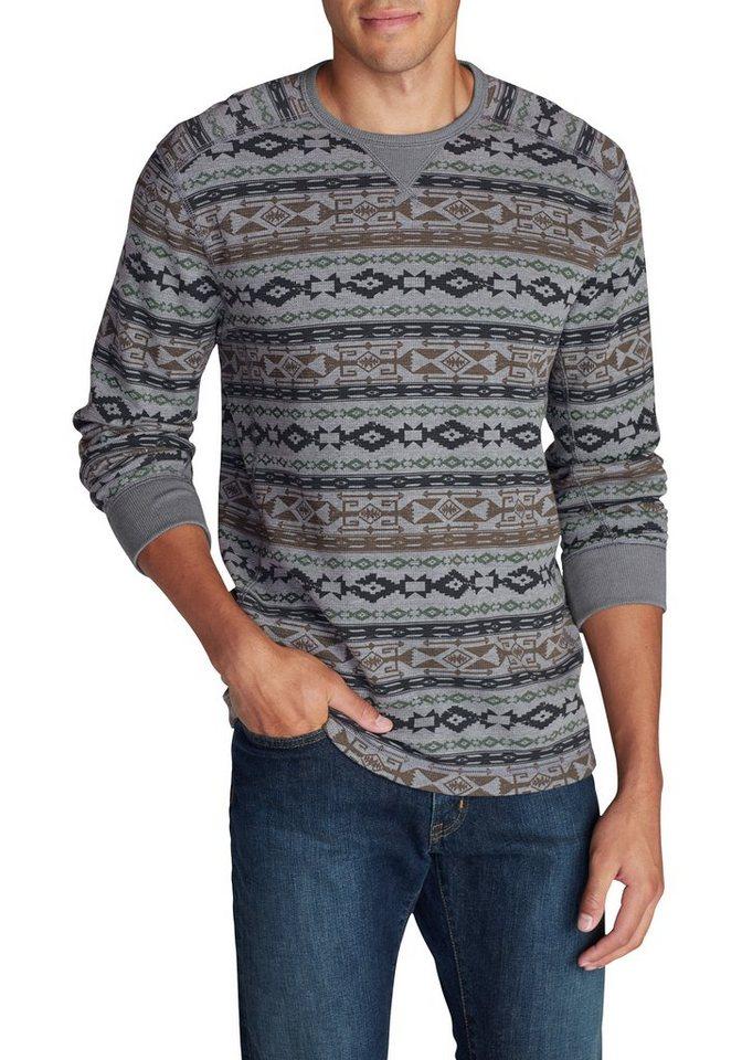 Eddie Bauer Shirt in Waffeloptik in Grau meliert