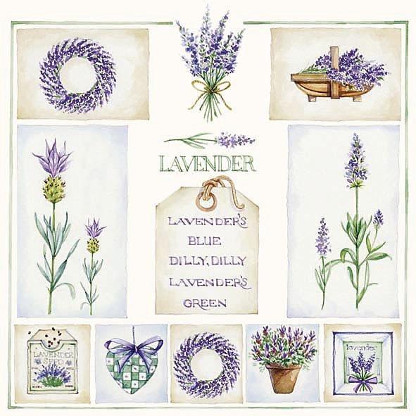 """Serviette """"Lavender Blue"""""""