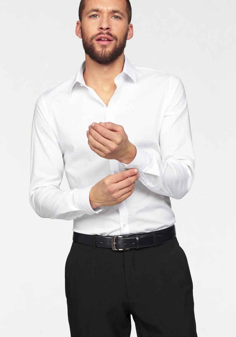 OLYMP Businesshemd »No. Six super slim« Bügelleicht