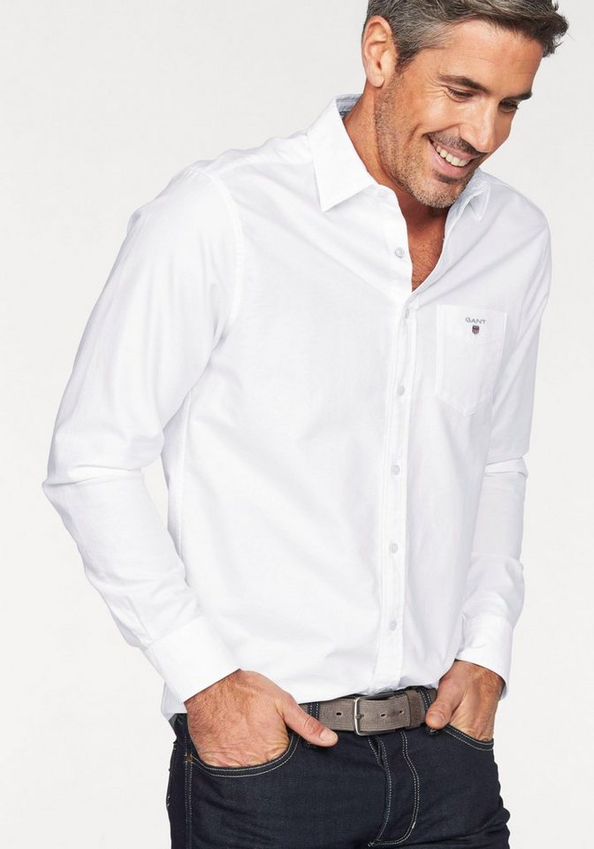 Gant Langarmhemd »Oxford« in white