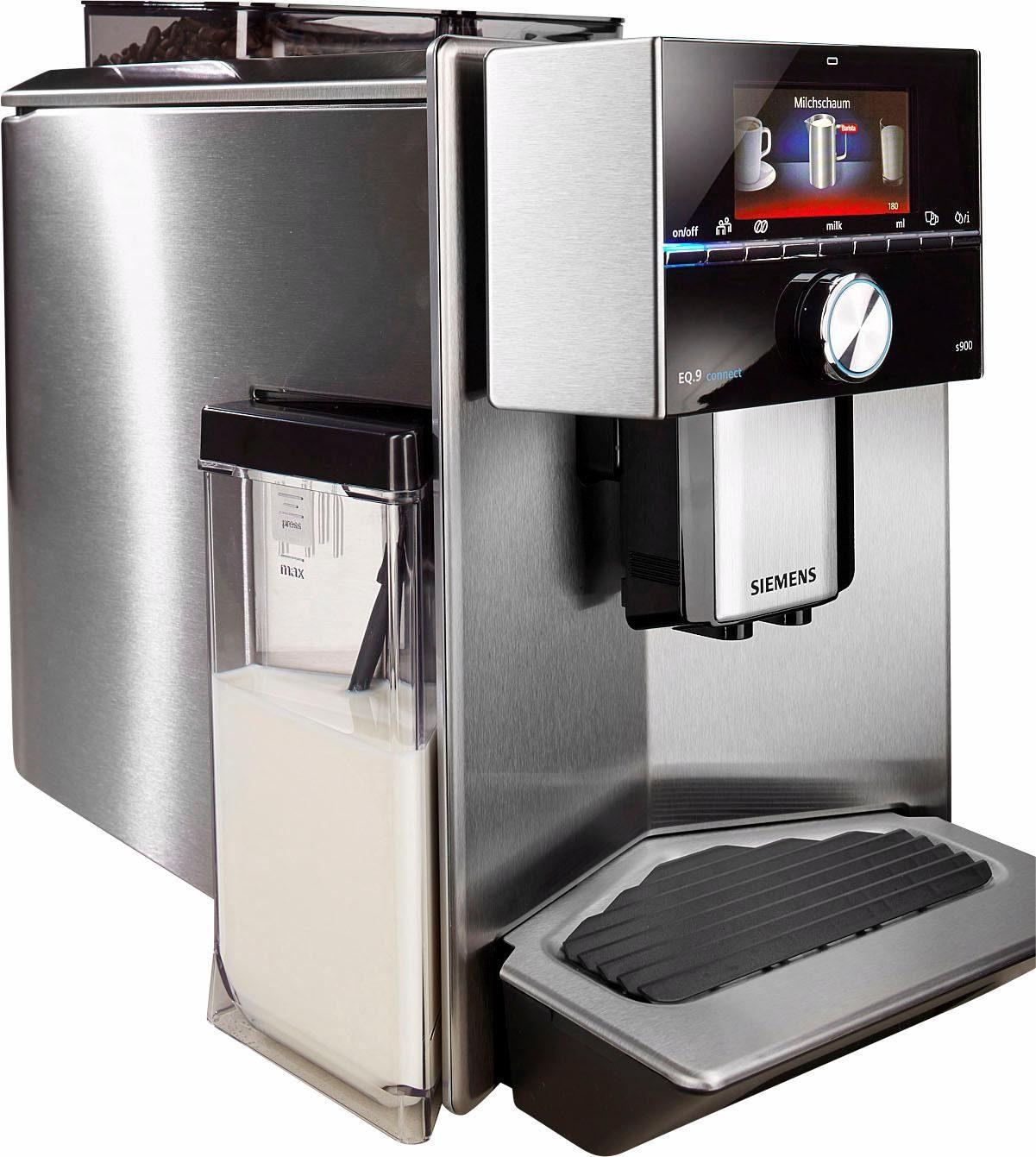 Siemens Kaffeevollautomat EQ.9 connect s900 TI909701HC, integrierter Milchtank