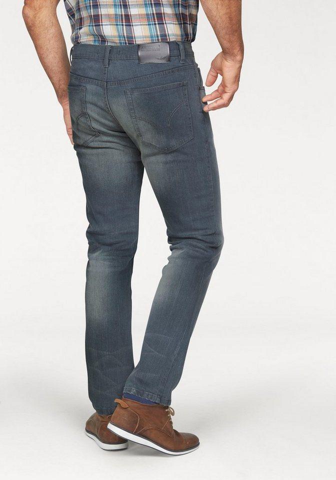 Arizona Stretch-Jeans »Clint« mit schmalerem Beinverlauf in graublau-used