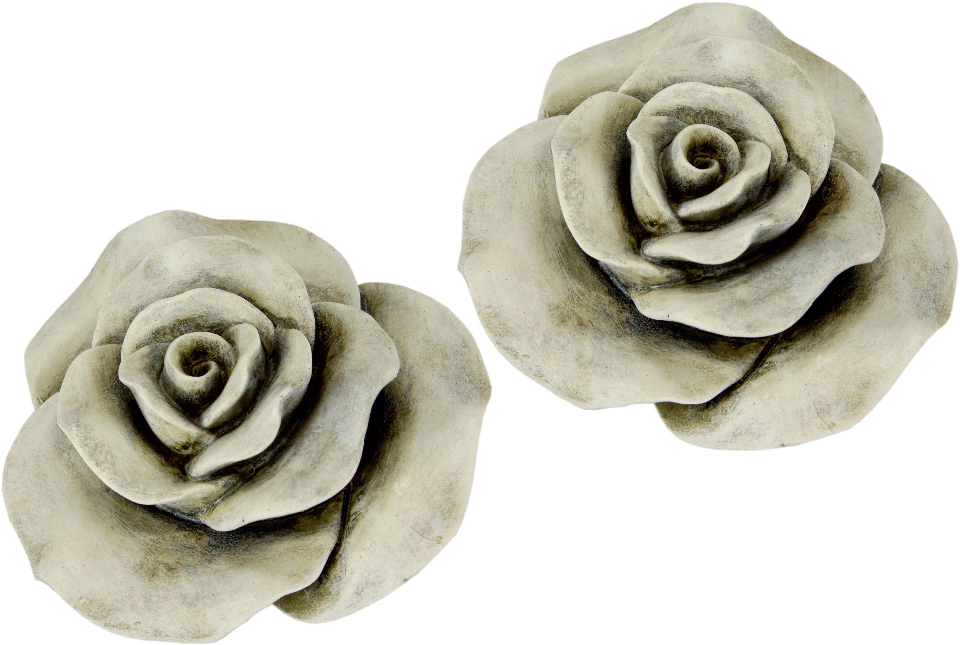 Home affaire, Rose aus Polyresin, (2er Set)