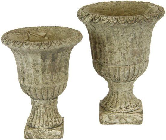 Home affaire Übertopf »Antik-Keramikpokal« (Set, 2 Stück)