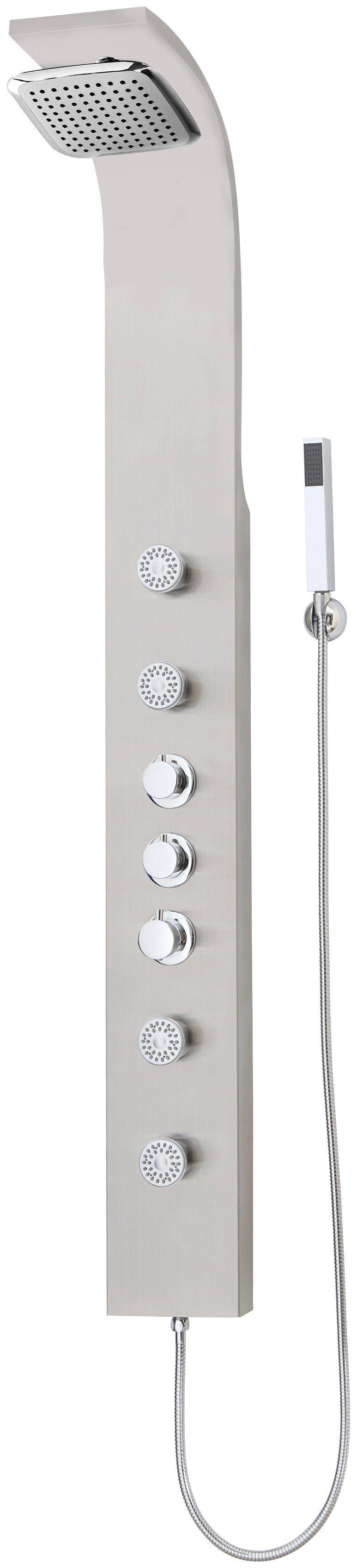 Set: Duschsäule aus Edelstahl