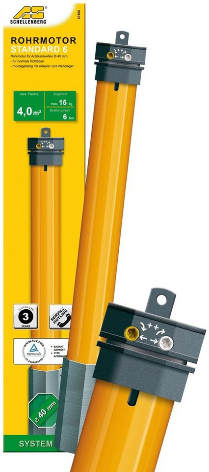 Rohrmotor »20106 Mini STANDARD 6Nm«, 40 mm, Smart Home in gelb