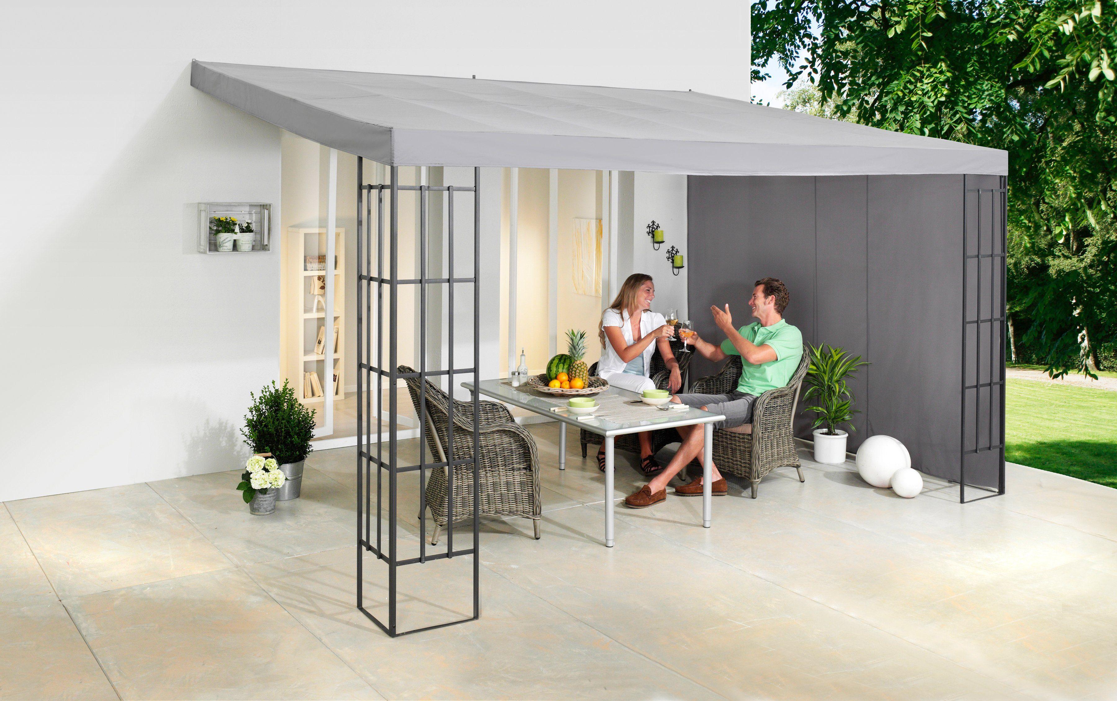 Seitenteile für Terrassendächer , 3x4 m, anthrazit