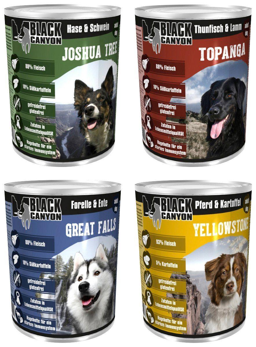 Black Canyon Set: Hundenassfutter »Set Nr. 1«, 4 Dosen á 820 g
