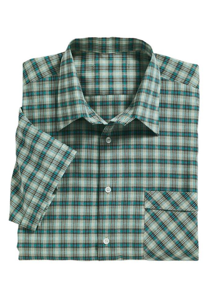 Classic Karo-Hemd aus reiner Baumwolle in grün-kariert