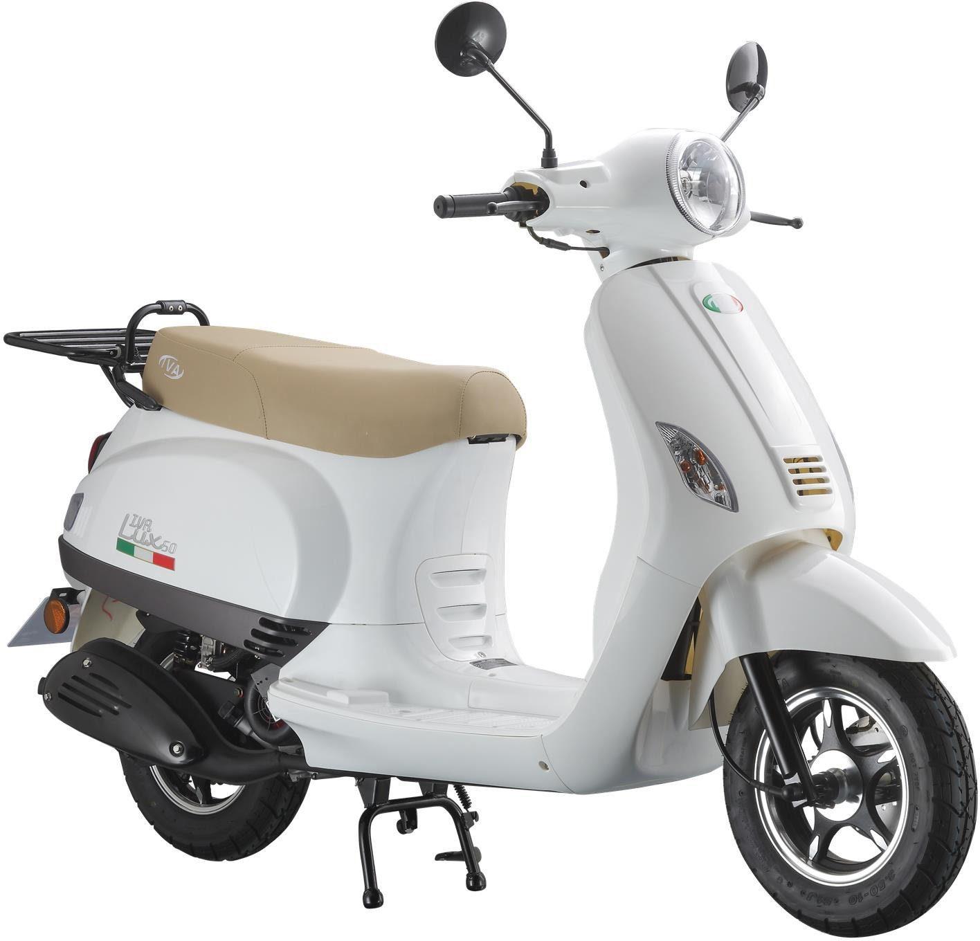 Mofaroller »LUX 50«, 50 ccm 25 km/h, für 1 Person, weiß/braun