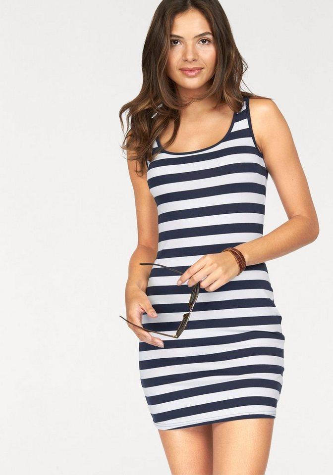 AJC Jerseykleid im Streifen-Look in marine-weiß