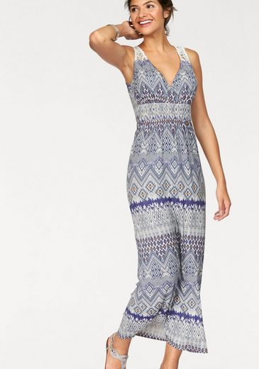 Ajc Maxi Dress, On The Back In The Style Bohemian With Peak