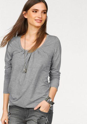 Laura Scott Langarmshirt, mit elastischem Bund