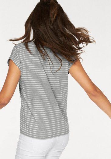 AJC Oversize-Shirt, mit angeschnittener Schulter im Streifen-Look