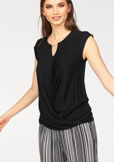 Laura Scott Wrap Shirt With Decorative Chain On Cutting