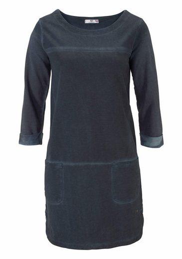 AJC Sweatkleid, in gewaschener Optik und lockerer, Oversized Form